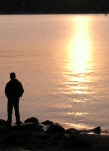 man at sunset nice